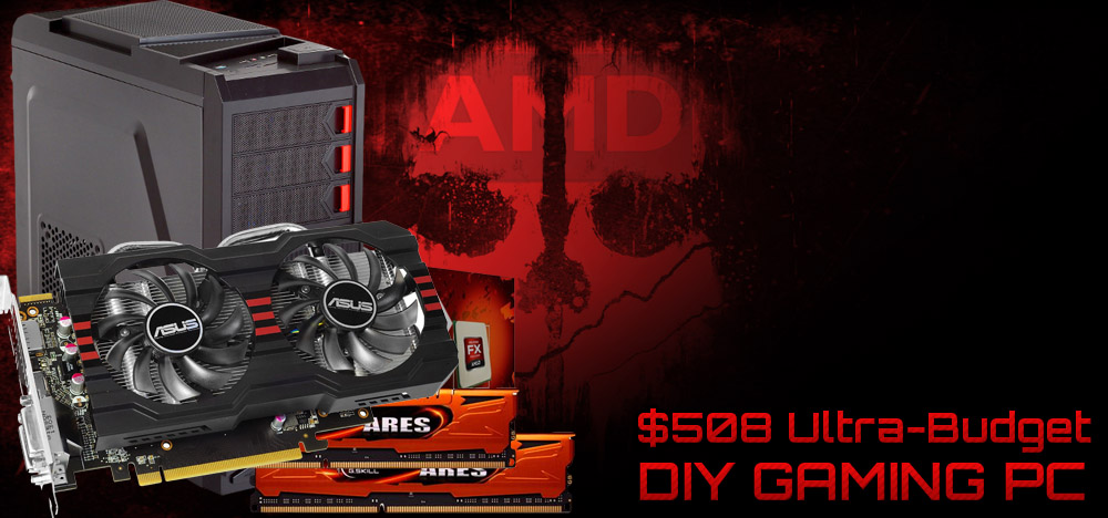 $508 Cheap Bastard's Xmas Gaming PC Build - December, 2013