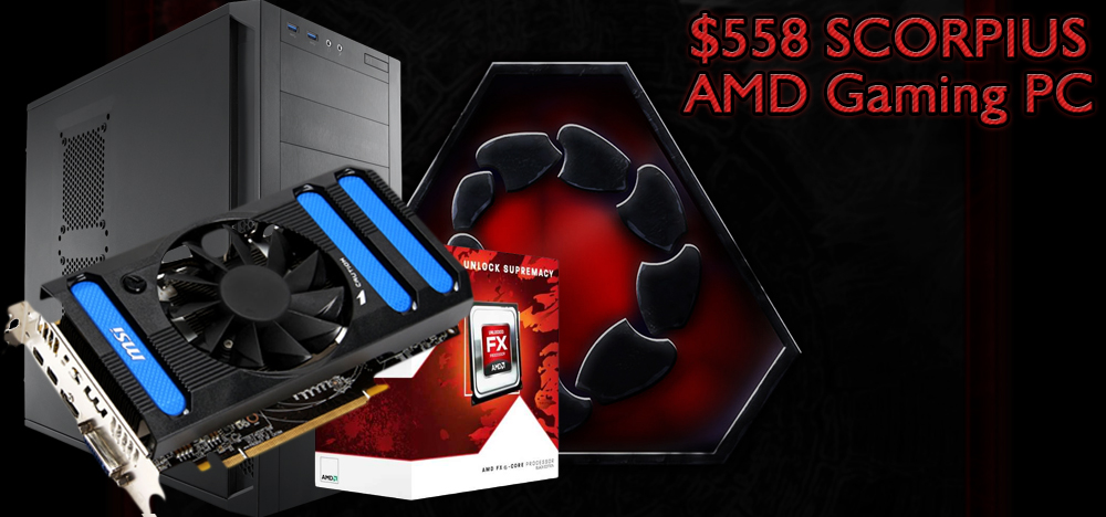 $558 DIY AMD Budget Gaming PC Build - October, 2013