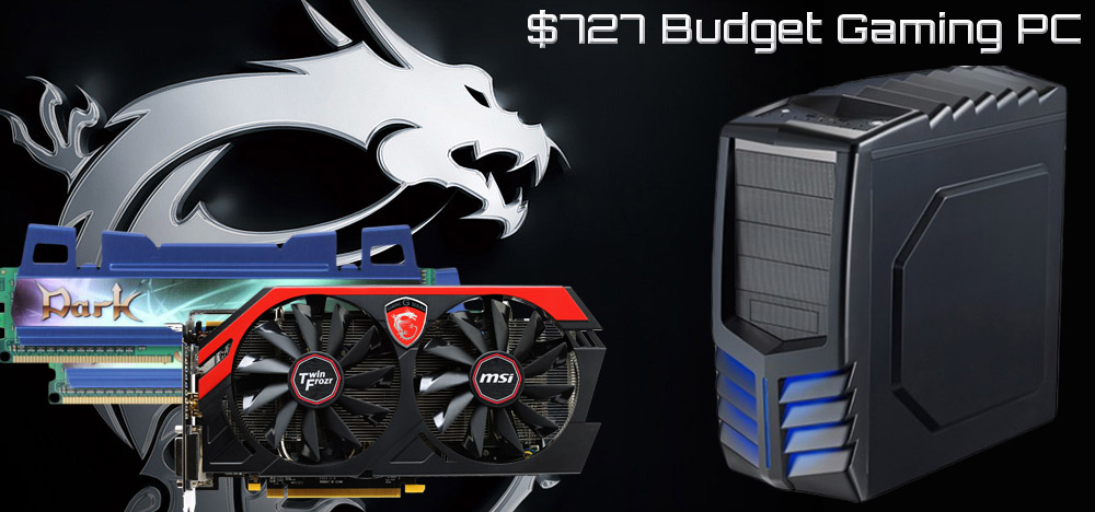 $727 DIY Budget Gaming PC Build - December, 2013