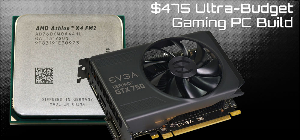 $475 Cheap Bastard's Ultra Budget Gaming PC Build - April, 2014