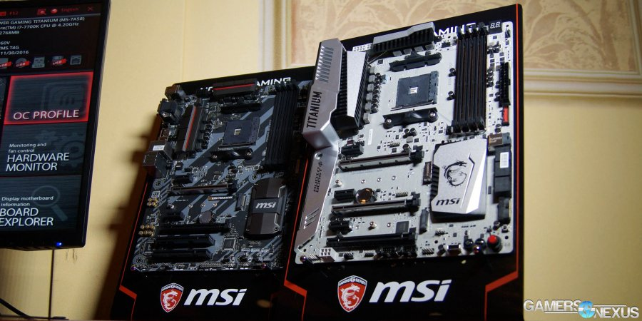 MSI AM4 Motherboards Detailed: X370 XPOWER Titanium & B350 Tomahawk
