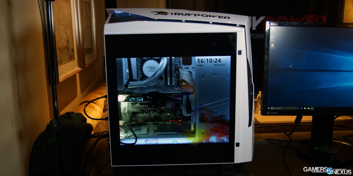 Ibuypower Snowblind Lcd Side Panel Finally A Complete