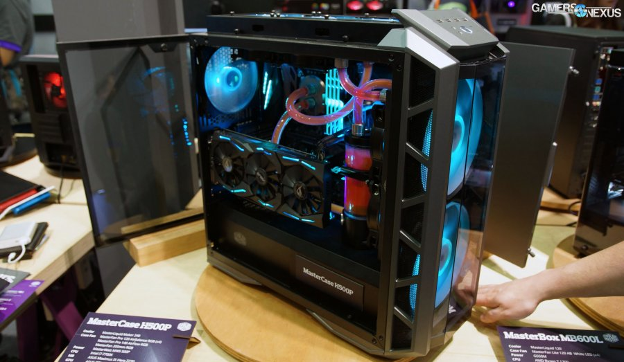 Cooler Master H500P & Cosmos C700P Case Hands-On | Computex