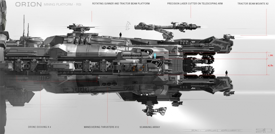 Star Citizen Showcases First Mining Ship, the RSI Orion