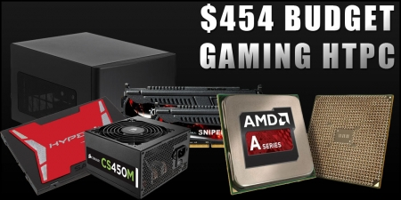 $454 Home Theater PC Build for Living Room Gaming - July, 2015